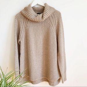 Hilary Radley tan turtleneck sweater